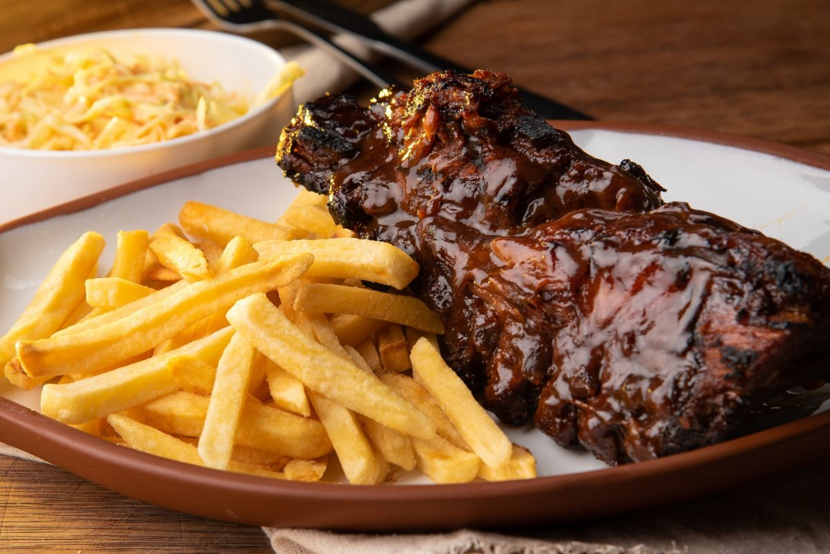 Braised barbecue beef short ribs